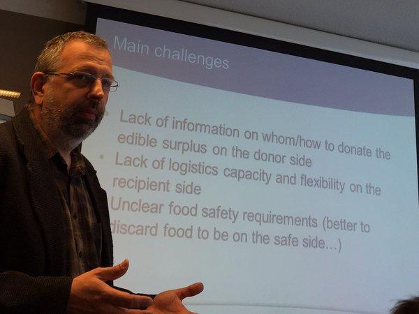 Our partner Balazs Cseh from FILAB talking about the challenges to save food during the final FUSION event